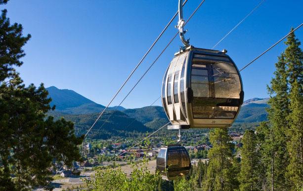Free gondola ride in Breckenridge CO