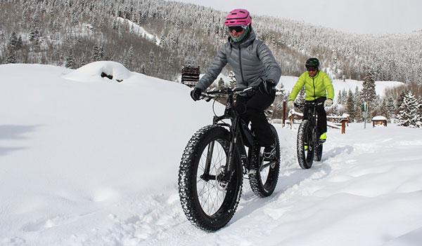 Fat biking in Breckenridge