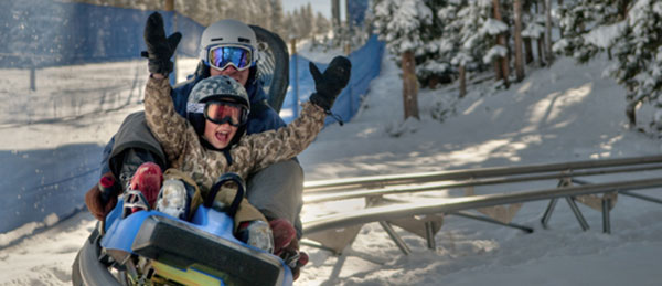 Winter roller coaster in Breckenridge CO